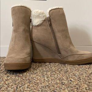 Unisa faux fur heeled booties